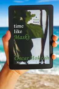 Time Like Masks - eReader w Man Hand - New Text 5 - Smaller Pixel