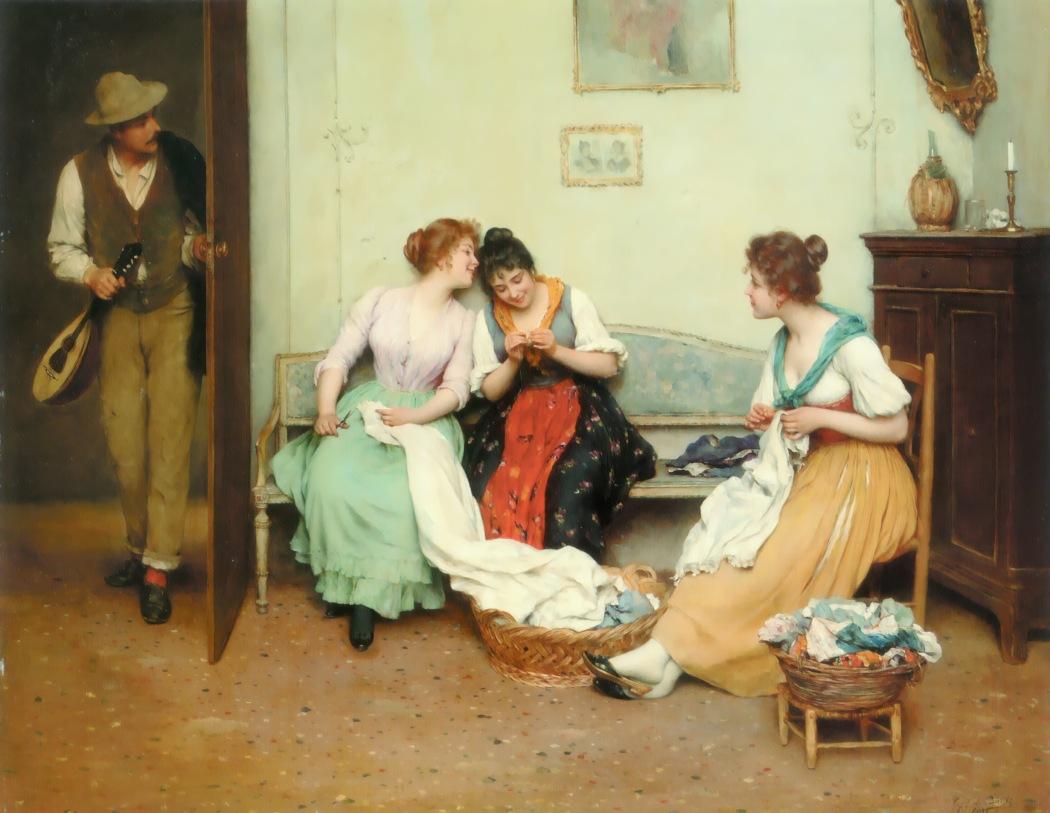 Eugene_de_Blaas_The_Friendly_Gossips