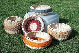 Cherokee baskets together