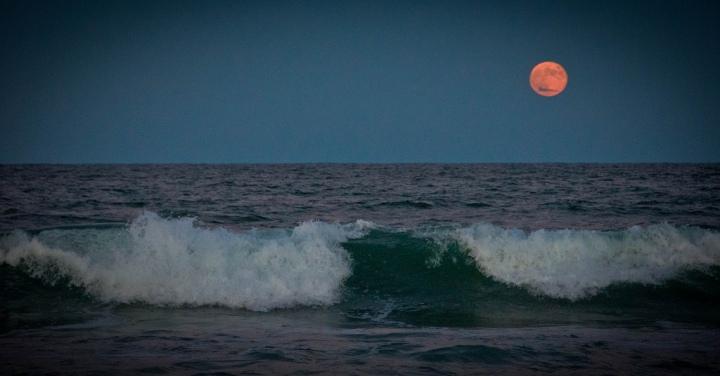 Moon and Ocean