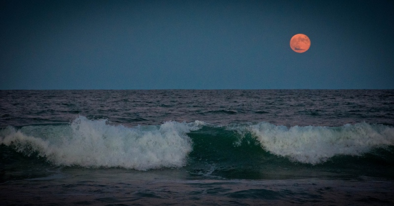 Moon and Ocean