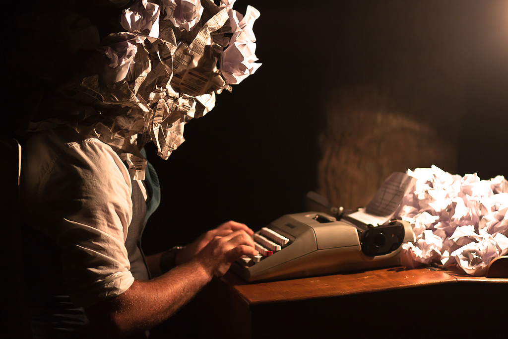 Writer with Paper Head