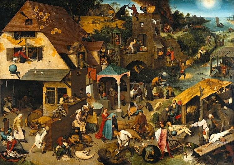 Gossip - 800px-Pieter_Brueghel_the_Elder_-_The_Dutch_Proverbs_-_Google_Art_Project