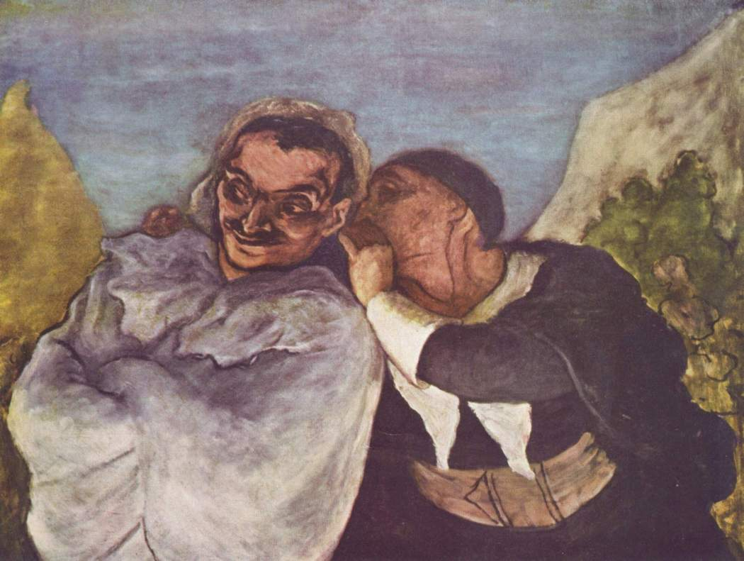 Gossip - Honoré_Daumier_003